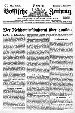 Vossische Zeitung vom 24.02.1921