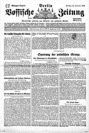 Vossische Zeitung vom 25.02.1921