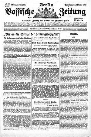 Vossische Zeitung vom 26.02.1921