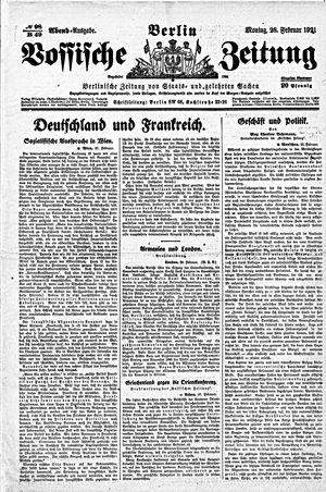 Vossische Zeitung vom 28.02.1921