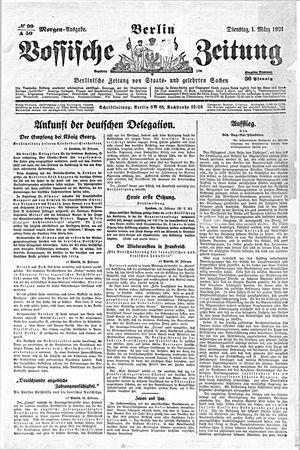 Vossische Zeitung vom 01.03.1921