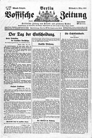 Vossische Zeitung vom 02.03.1921