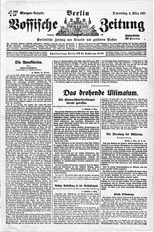 Vossische Zeitung vom 03.03.1921