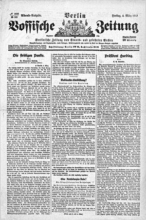 Vossische Zeitung vom 04.03.1921