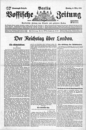 Vossische Zeitung vom 06.03.1921