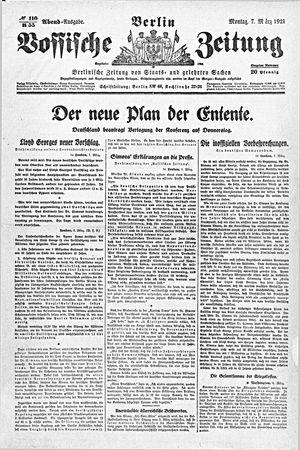 Vossische Zeitung vom 07.03.1921