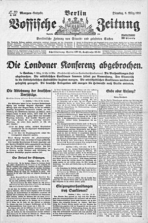 Vossische Zeitung vom 08.03.1921