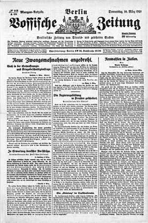 Vossische Zeitung vom 10.03.1921