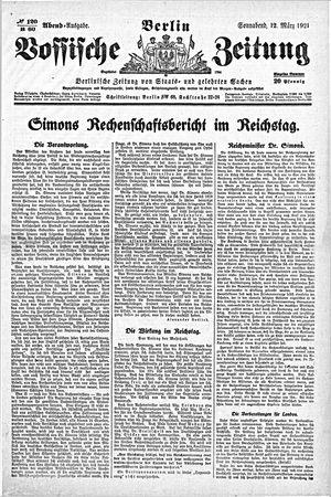 Vossische Zeitung vom 12.03.1921