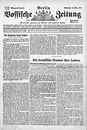 Vossische Zeitung vom 16.03.1921