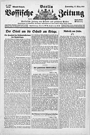 Vossische Zeitung vom 17.03.1921