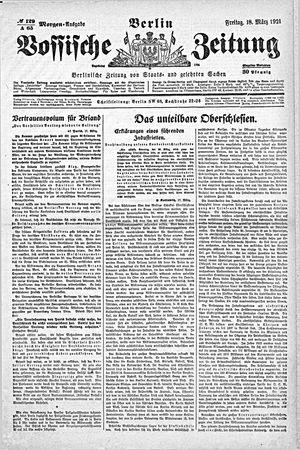 Vossische Zeitung vom 18.03.1921