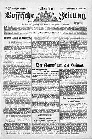 Vossische Zeitung vom 19.03.1921