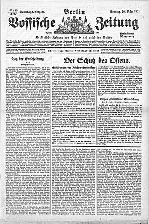 Vossische Zeitung vom 20.03.1921