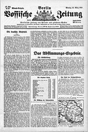 Vossische Zeitung vom 21.03.1921