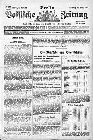 Vossische Zeitung vom 22.03.1921