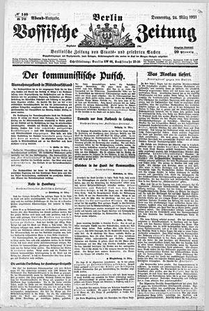 Vossische Zeitung vom 24.03.1921