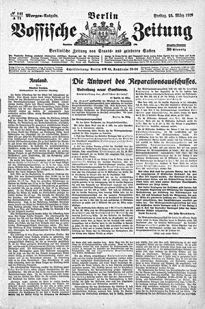 Vossische Zeitung vom 25.03.1921