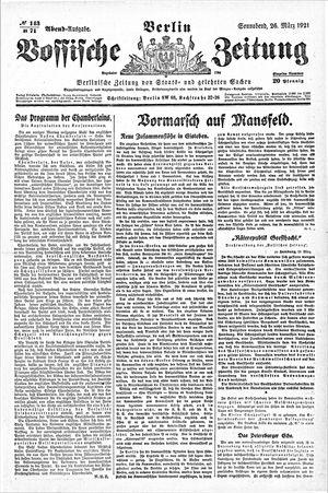 Vossische Zeitung vom 26.03.1921