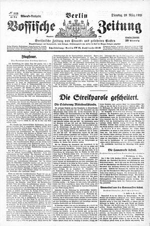 Vossische Zeitung vom 29.03.1921