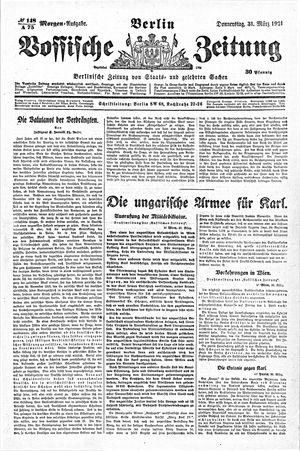 Vossische Zeitung vom 31.03.1921