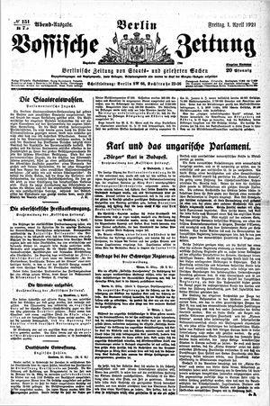 Vossische Zeitung vom 01.04.1921