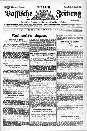 Vossische Zeitung vom 02.04.1921