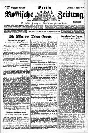 Vossische Zeitung vom 05.04.1921