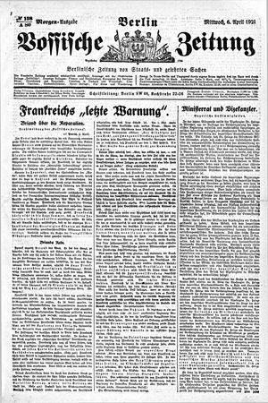 Vossische Zeitung vom 06.04.1921