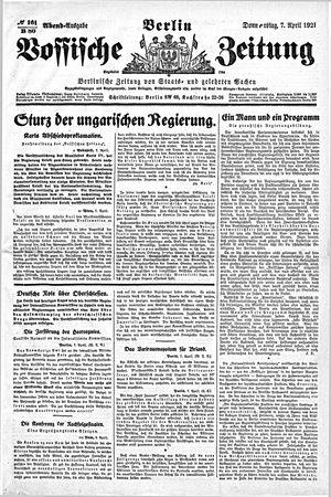 Vossische Zeitung vom 07.04.1921