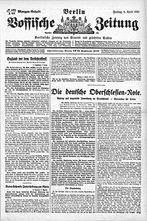 Vossische Zeitung vom 08.04.1921