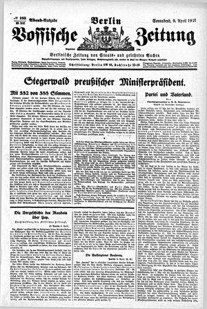 Vossische Zeitung vom 09.04.1921