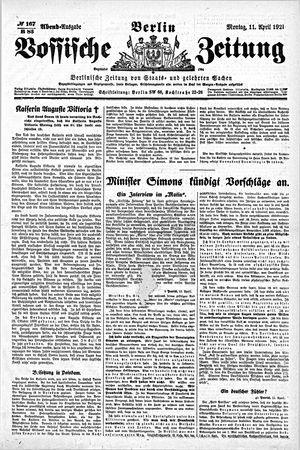 Vossische Zeitung vom 11.04.1921