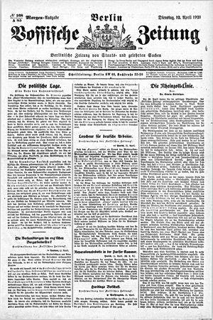 Vossische Zeitung vom 12.04.1921