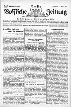 Vossische Zeitung vom 14.04.1921