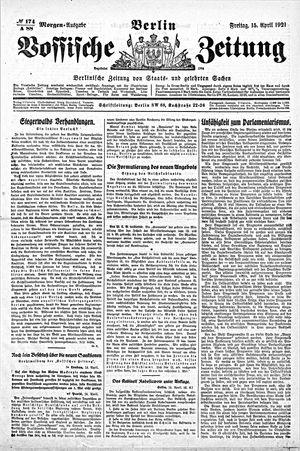 Vossische Zeitung vom 15.04.1921