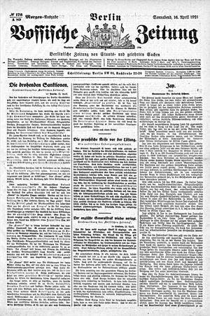 Vossische Zeitung vom 16.04.1921
