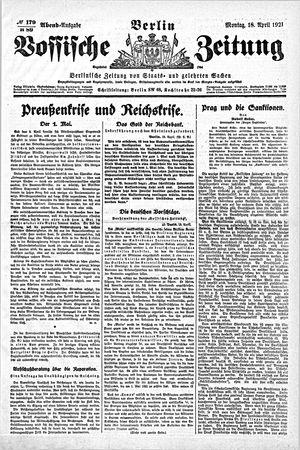 Vossische Zeitung vom 18.04.1921
