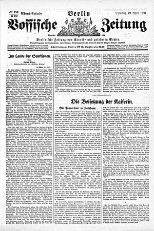 Vossische Zeitung vom 19.04.1921