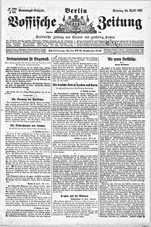 Vossische Zeitung vom 24.04.1921