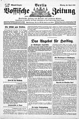 Vossische Zeitung vom 25.04.1921