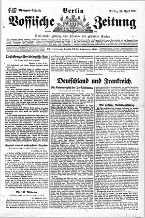 Vossische Zeitung vom 29.04.1921