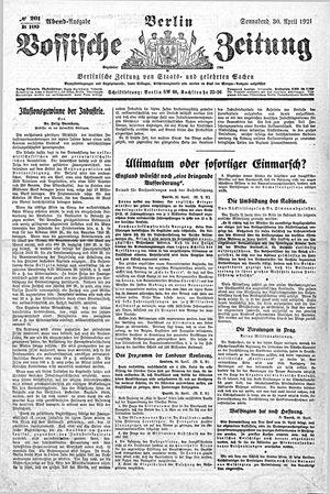 Vossische Zeitung vom 30.04.1921