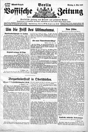 Vossische Zeitung vom 02.05.1921