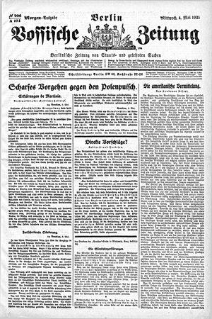 Vossische Zeitung vom 04.05.1921