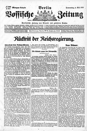 Vossische Zeitung vom 05.05.1921