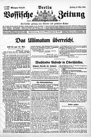 Vossische Zeitung vom 06.05.1921