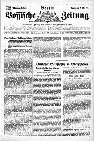 Vossische Zeitung vom 07.05.1921