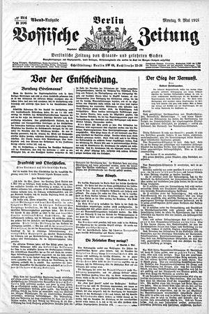 Vossische Zeitung vom 09.05.1921