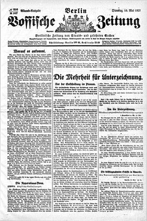 Vossische Zeitung vom 10.05.1921